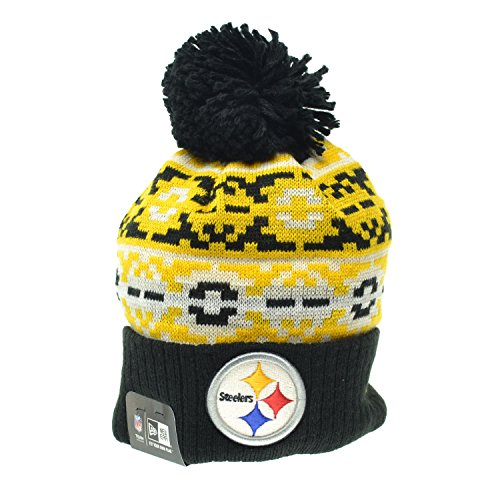 New Era Pittsburg Steelers Retro Chill NFL Men's Pom Beanie Black/Yellow ne-retro-chill-pitste (Size - Outlets Pittsburg