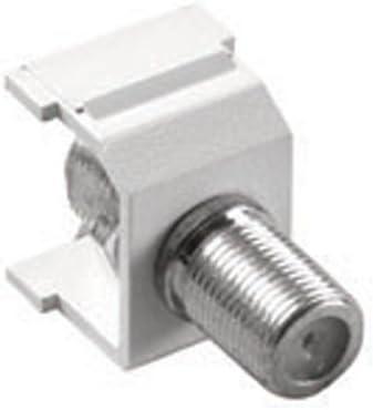 Lutron CON-1C-WH Claro F-Style Cable Jack White