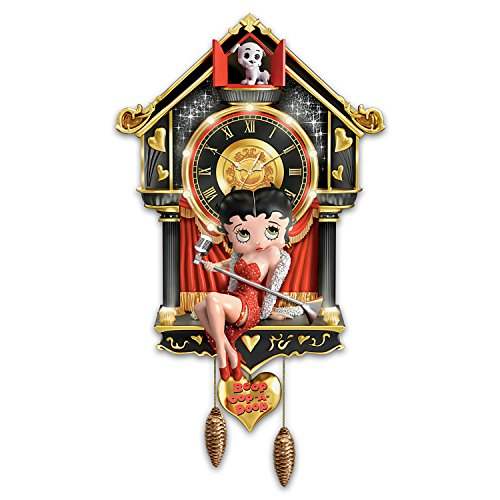 Sculpted Betty Boop Cuckoo Clock with Lights and Sound by The Bradford Exchange