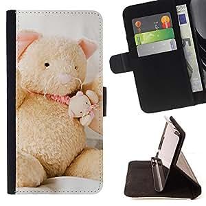 Jordan Colourful Shop - Cute Teddy Bear For Apple Iphone 5C - Leather Case Absorci???¡¯???€????€???????????&AE