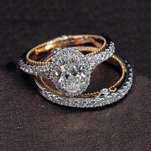 Dokis Fashion 925 Silver Round Cut Sapphire Women Wedding Ring Jewelry Size 6-10 | Model RNG - 3816 | 9