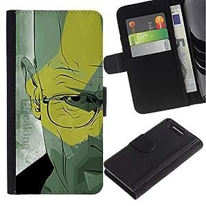 UNIQCASE - Sony Xperia Z1 Compact D5503 - Walter Doctor Meth - Cuero PU Delgado caso cubierta Shell Armor Funda Case Cover