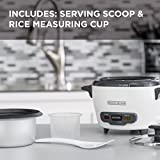 BLACK+DECKER RC503 Mini Single-Serve 3-Cup Cooked/1.5-Cup Uncooked Rice Cooker, White