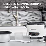 """BLACK+DECKER RC503 Dry/3-Cup Cooked Rice Cooker 14 Sauté Function - This is no ordinary rice cooker! The sauté function puts a delicious sear on meat and other proteins, or softens veggies to complete easy one-pot meals 14-Cup Capacity - Prepare anywhere from 3 to 14 cups of cooked rice, great for one large meal or to save as leftovers Automatic Keep Warm - The rice stays ready for serving! The unit automatically switches to the """"keep warm"""" function after cooking is complete"""
