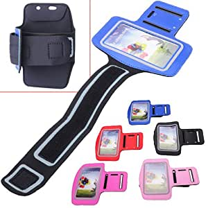 Trendy Sports Neoprene Armband for Samsung Galaxy S4 i9500 - Optional Colors - blue color
