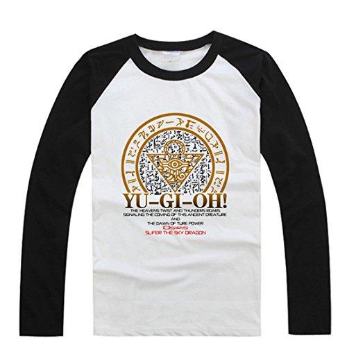 [AnimeTown Yu Gi Oh Cosplay Costume Anime Long Sleeves Tee T-Shirt (M, Black and White)] (Gi Joe Cosplay Costumes)