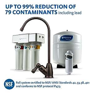 Aquasana AQ-RO-3.62 OptimH2O Reverse Osmosis Fluoride Water Filter, Oil-Rubbed Bronze