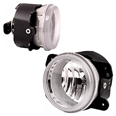 Fog Lights Compatible with Chrysler 300 Chrysler 300 3.5L Touring 2005-2010 PT Cruiser 2006-2009 Dodge Magnum 2005-2008 Journey 2009-2010 Jeep Wrangler 2007-2011 (OE Style Clear Lens w/Bulbs) ATFL0305: Automotive