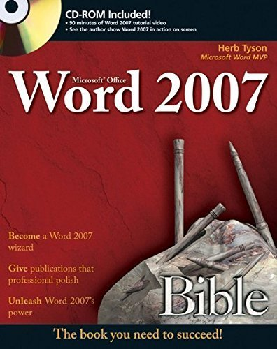 Microsoft Word 2007 Bible by Herb Tyson - Shopping Tyson Mall