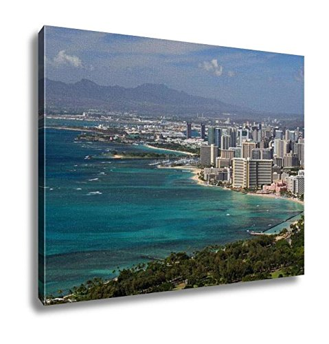 Ashley Canvas, View Of Waikiki From Diamond Head Honolulu Hawaii 02, Home Decoration Office, Ready to Hang, 20x25, AG6408046 by Ashley Canvas