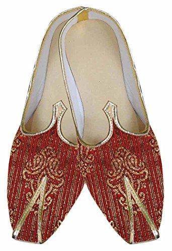 INMONARCH de Tradicional Boda Rojo Hombres MJ0037 Zapatos rwPrCqx6n