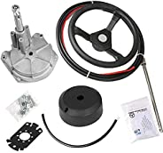 """Togarhow Boat Turbine Rotary Steering System Outboard Kit 12/13/15/16 Feet Marine with 13"""""""