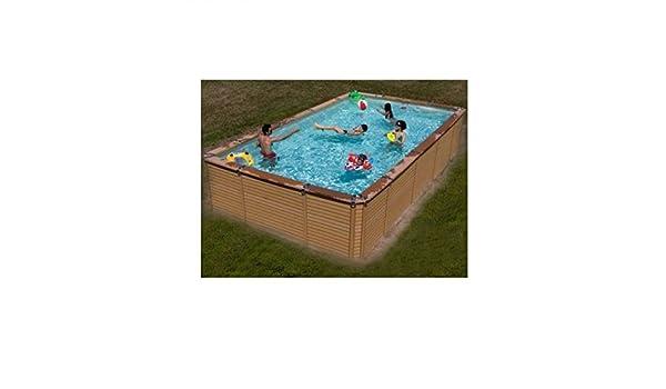 Zodiac Azteck maxiwood rectangular de madera piscina 2,44 m x 4,95 M: Amazon.es: Hogar