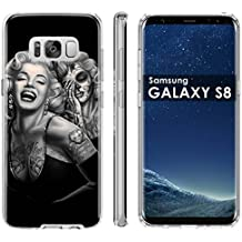 """Samsung Galaxy S8 Soft Mold [Mobiflare] [Clear] Thin Gel Protect Cover - [Day of the Dead] for Samsung Galaxy [S8] [5.8"""" Screen Size]"""