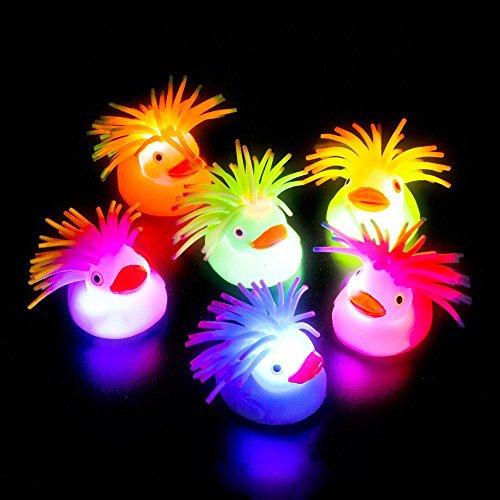 Flashing Crazy Hair Puffer Duck by Blinkee