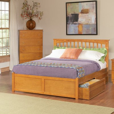 Brooklyn Storage Slat Bed Size: Twin by Atlantic Furniture