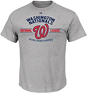 Majestic Washington Nationals MLB Men s Gray Added Value Tee Shirt Big and  Tall Sizes e2a530fe9