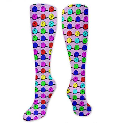 Colorful Monster Eyeball Men & Women Knee High Socks Soft Boot Socks Cosplay Socks For Party Halloween School ()
