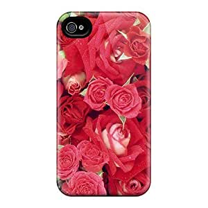 4/4s Scratch-proof Protection Hot Fresh Roses Phone Case