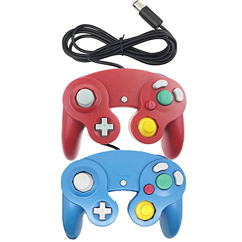 bowink-2-packs-classic-ngc-wired-controllers-for-wii-gamecube-red-and-blue