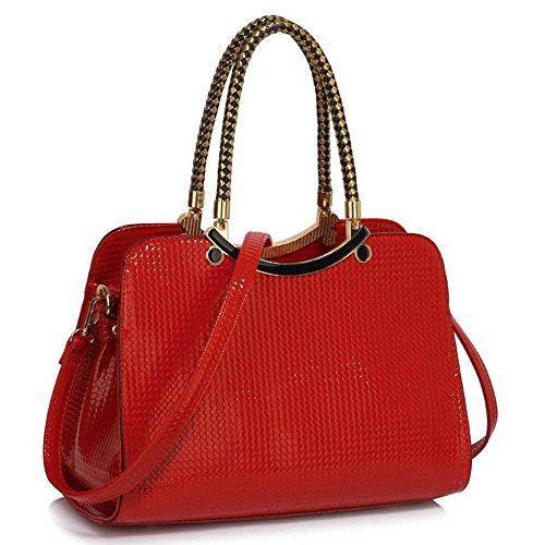 TrendStar Mujeres Bolsas De Créateurs–Careta de estilo damas avestruz de bolsos Fourre Tout C - Red