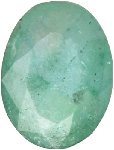 445ct  Natural Cut Faceted Oval Shape Dark Green Emerald Loose Gemstone on