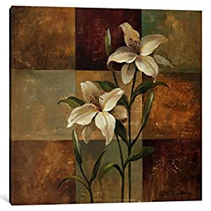 iCanvasART 1 Piece Lily Square Canvas Print by Wild Apple Portfolio, 12 x 12 x 1.5-Inch