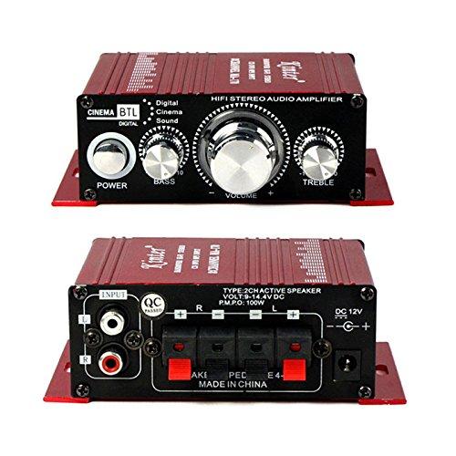 365Cor(TM)2015 Professinal 2CH 12V Hi-Fi Stereo Amplifier AMP CD DVD MP3 Speaker for Car/Motorcycle/Home/Boat