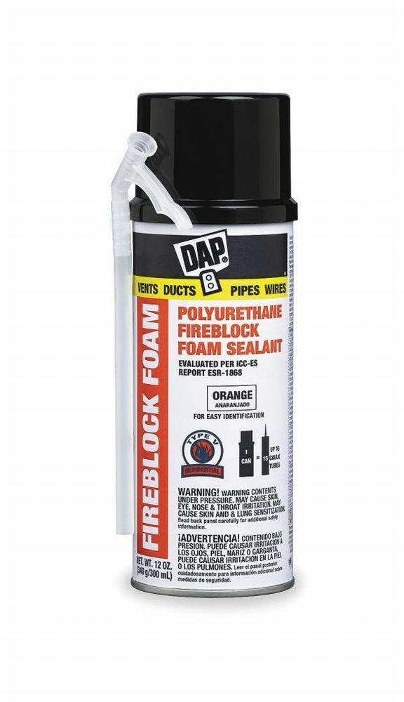 Dap Inc 44242 12 oz. fireblock espuma sellador de espuma de poliuretano, color naranja: Amazon.es: Bricolaje y herramientas