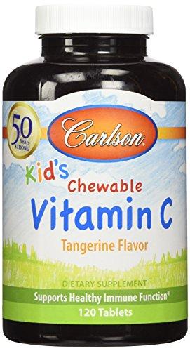 Carlson Kids Chewable Vitamin Tangerine
