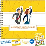 FUNNY ASSISTANT GIFTS - All In a Day's Work Booklet - Humor Book With Included Gift Card And Emoji Stickers