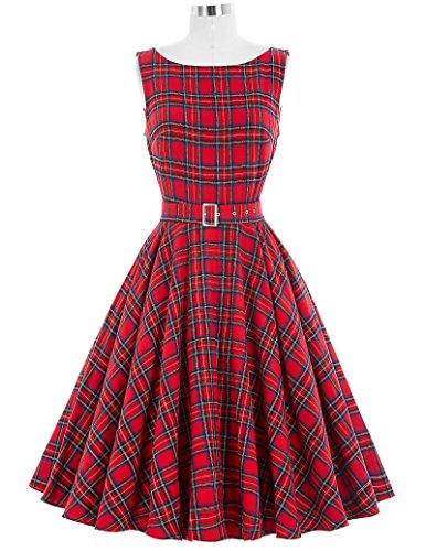 Christmas Plaid Dress - 1
