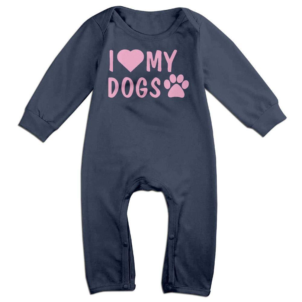 Newborn Kids Jumpsuit I Love My Dogs PAW-2 Toddler Jumpsuit