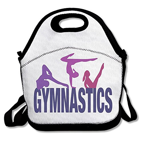 Tailing Lunch Bag Gymnastics Convenient Lunch Pouch Picnic Bag Lunch Tote For School Work Office (Gymnastics Lunch)