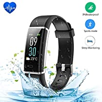 Fitness Tracker, JoyGeek Color Screen Smart Watch Heart Rate Monitor IP68 Waterproof Smart Barecelet GPS Sport Sleep Tracker Calorie Counter and Call/SMS Reminder for iPhone X/8 plus/8/7 plus/7 Samsung S9/note 8/S8 Huawei