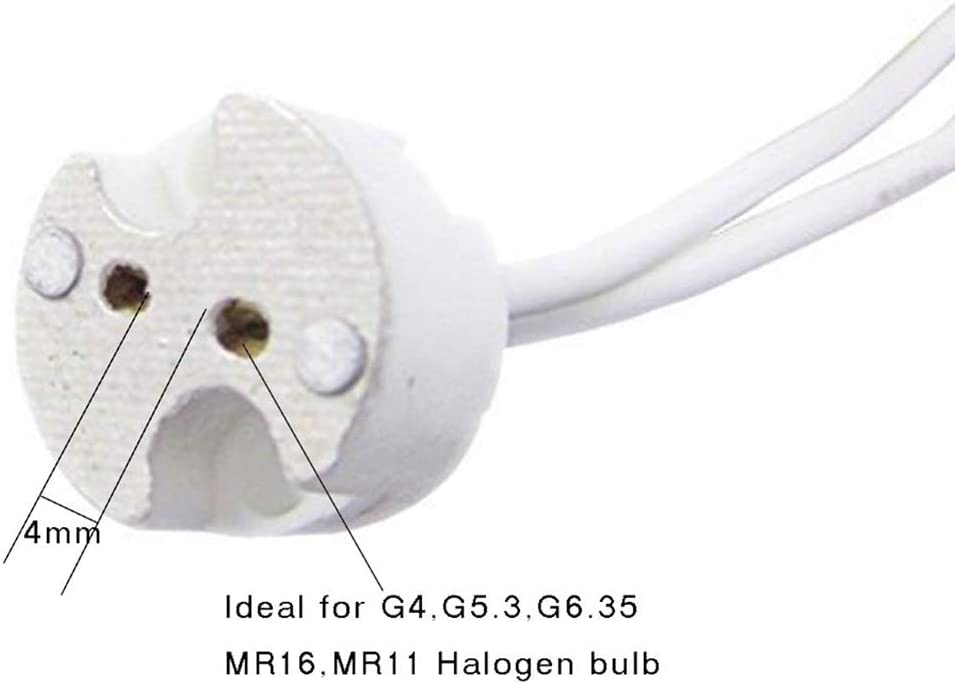 G4 Base Socket,Bi-Pin Ceremic Lamp Holder Socket for G4 LED Halogen Lamp 10 Pack