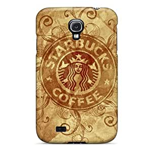 Protector Cell-phone Hard Covers For Samsung Galaxy S4 With Customized Attractive Starbucks Skin SherriFakhry