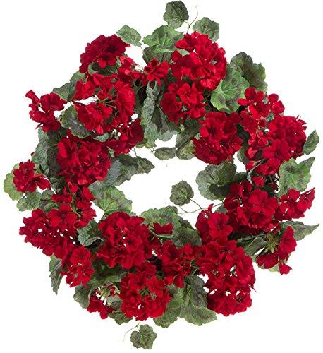 RAZ Imports Red Geranium Wreath - 22 ()