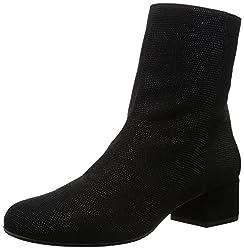 Aquatalia Women's Lara Boot (5 B(M) US, Black Anil/Calf Suede)