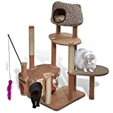Solvit Kittyscape Cat Tree House Extra Large Cat Tower With Scratching Post, Pet Toys, Multilevel Cat Condo