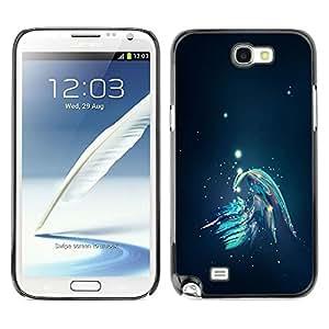 LECELL -- Funda protectora / Cubierta / Piel For Samsung Galaxy Note 2 N7100 -- Abstract Galaxy --