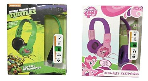 Sakar My Little Pony And Tmnt Kid Safe Headphones Bundle