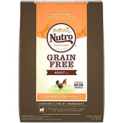 NUTRO Grain Free Adult Dry Cat Food, Chicken