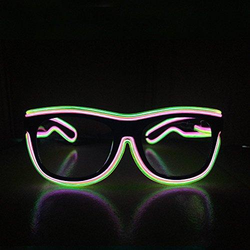 Hot Fashion El Wire Eyewear Glasses DJ Rave Party Weddings festivals flashing multicolor Frame - Eyewear Rave