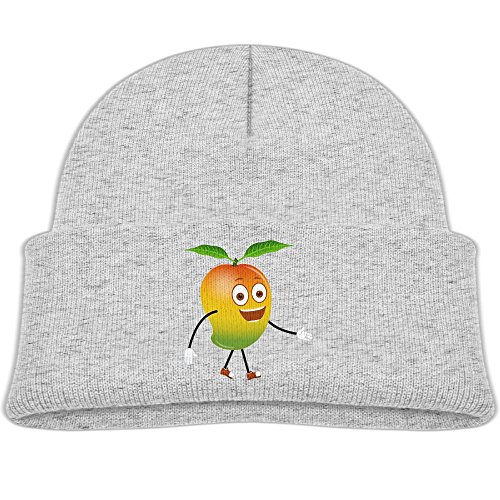 Tongbu Mango Cartoon Fruits Kids Winter Warm Knitted Hat Fashion Wool Caps Beanie Children Girls Boys Knit Cap Ash