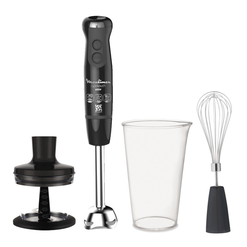 Immersion blender Moulinex dd-8338 - Minipimer 600 W 0.5lt activflow inoxidable negro 16 Velocidad: Amazon.es: Hogar