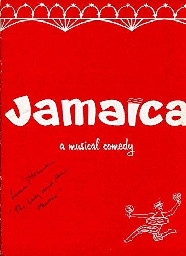 (Lena Horne Broadway Musical Jamaica Rare Original Signed Autograph Photo Program)