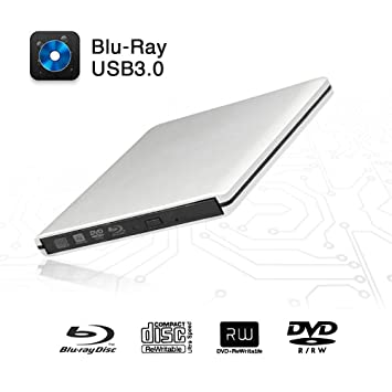 Amazon.com: Unidad de DVD Blu-Ray externa, USB 3.0 portátil ...