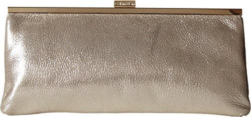 Calvin Klein Metallic Suede Clutch, (Metallic Suede Handbag)