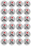AK Giftshop I Love Funeral For A Friend - 24 Edible Cupcake Toppers Cake Decorations - Easy Precut Circles